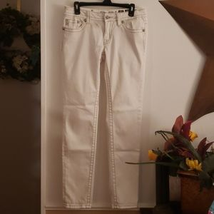 Miss Me White Skinny Jeans Size 29